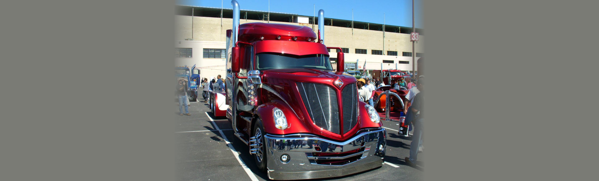 Shiny red truck