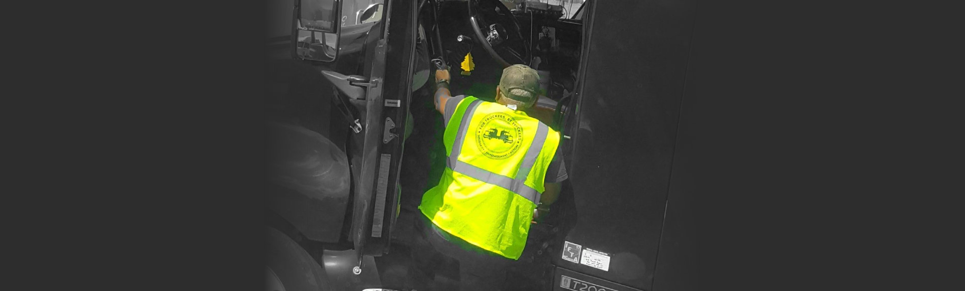 truck driver getting ready to drive